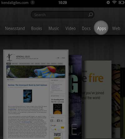 Amazon Kindle Fire Apps selection