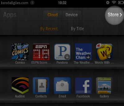 Kindle Fire Apps Store selection