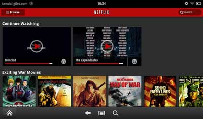Kindle Fire Netflix movies