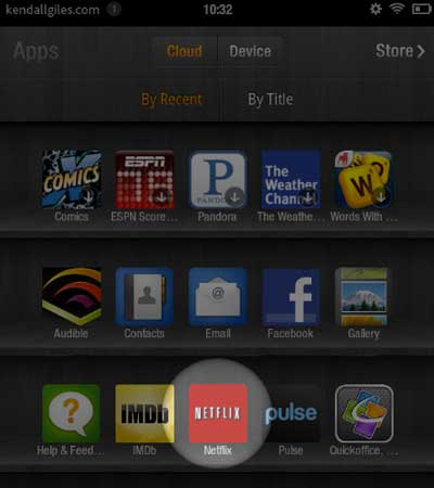 Kindle Fire Netflix app
