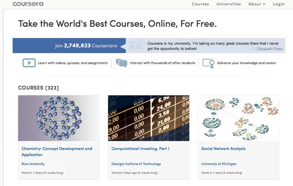 coursera  moocs  and free higher education
