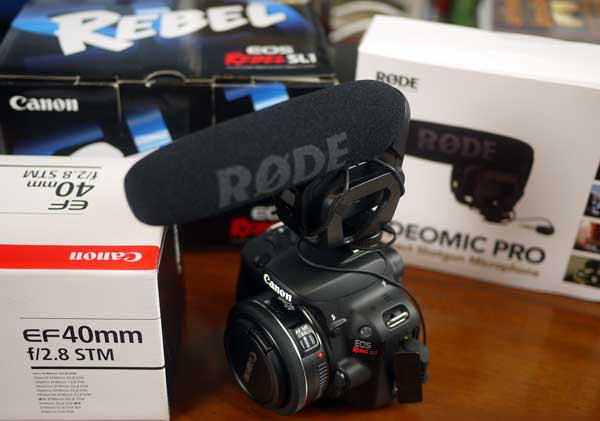 Unboxing the Canon EOS Rebel SL1 Camera | Writing, Research