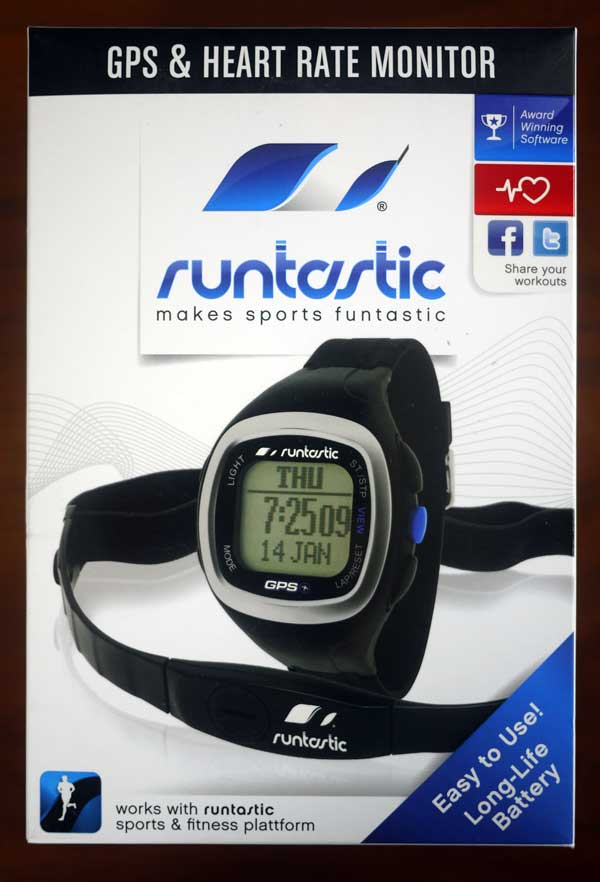 Runtastic GPS heart rate monitor watch box