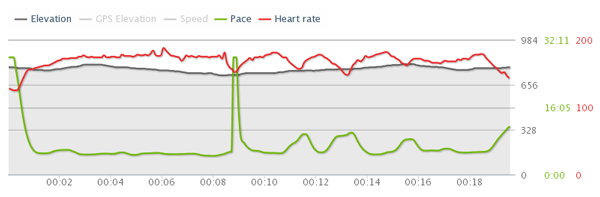 Runtastic GPS heart rate monitor watch workout data