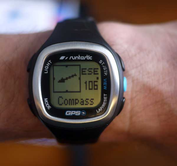 Runtastic GPS heart rate monitor watch compass