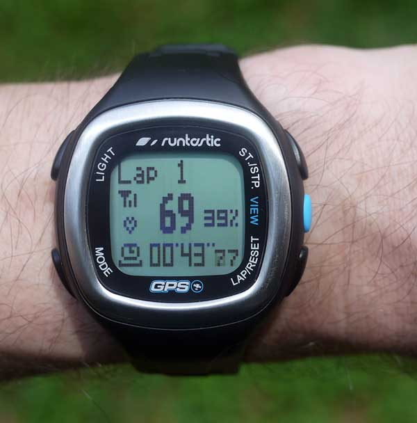 Runtastic GPS heart rate monitor watch tracking