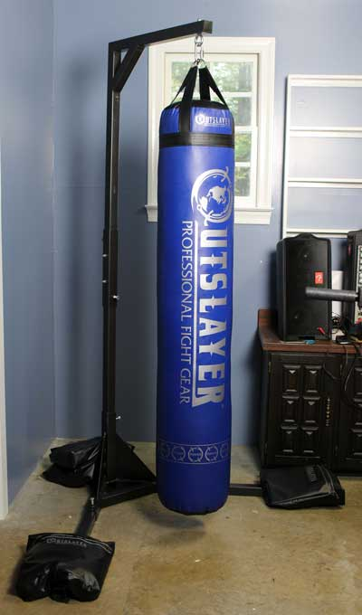Diy free standing heavy bag stand do it your self