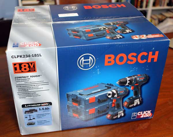unboxing the bosch 18