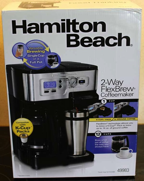 Review Of The Hamilton Beach 2 Way Flexbrew Coffeemaker Writing