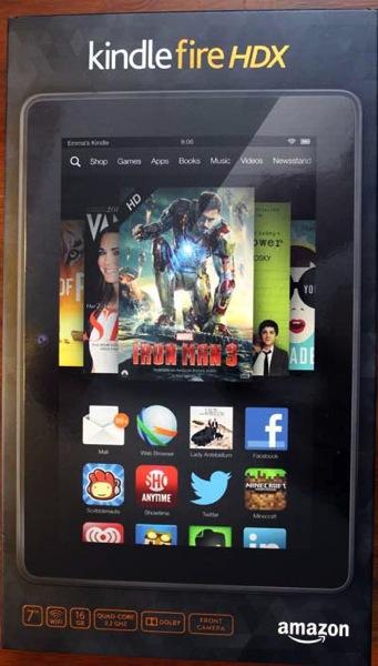 Kindle fire hdx 7 tablet box