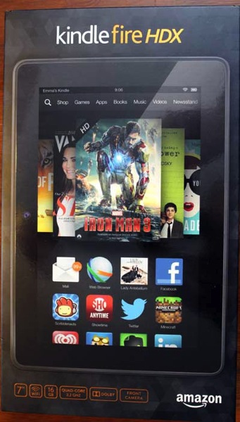 Kindle fire hdx 7 tablet box