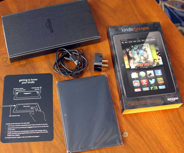 Kindle fire hdx 7 tablet unboxing