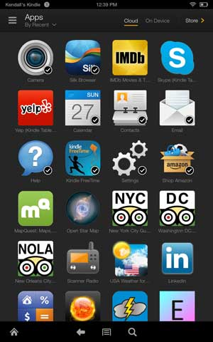 Kindle fire hdx apps