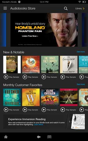 Kindle fire hdx audio books