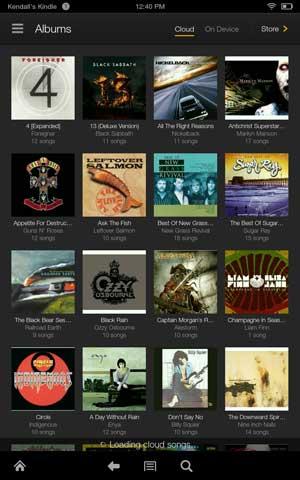 Kindle fire hdx music