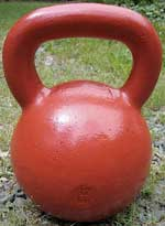 red 32kg kettlebell