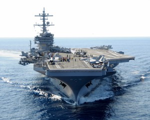 My Embark Aboard the USS George H. W. Bush Aircraft Carrier