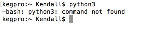 python 3 command