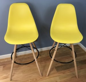 Review: IRIS Yellow Shell Barstool with Wood Eiffel Legs