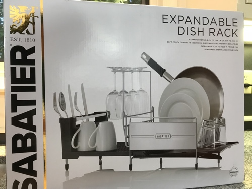 Review Sabatier Expandable Dish Rack Exploring The TechnoSlipstream Delectable Sabatier Expandable Dish Rack With Soft Touch Coating