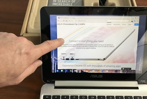 Review ASUS Chromebook Flip C101PA-DB02 with 10 1